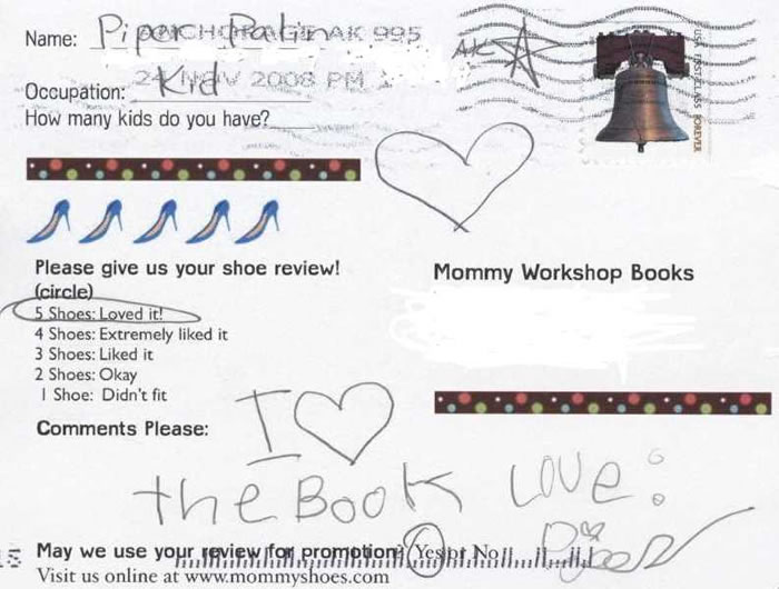 Piper Palin Loves Mommy's High Heel Shoes- gives it 5 Shoe review!